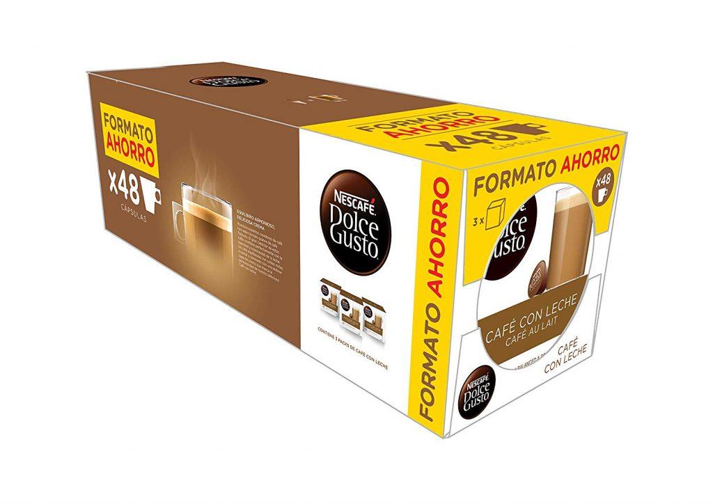 Cápsulas de café dolce gusto café con leche al mejor precio amazon
